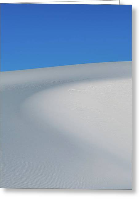 Blue Over White Greeting Card