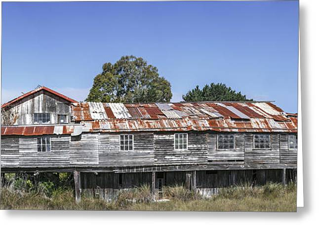 Greeting Card featuring the photograph Blue Ox Millworks by Jon Exley