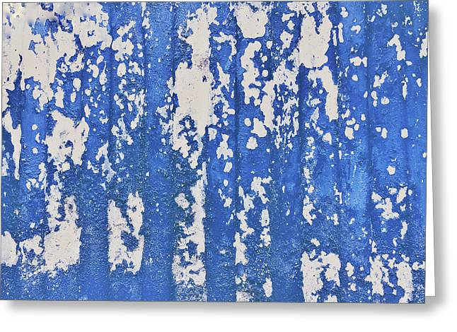 Blue Painted Metal Greeting Card