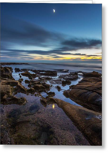 Blue Greeting Card by Peter Tellone