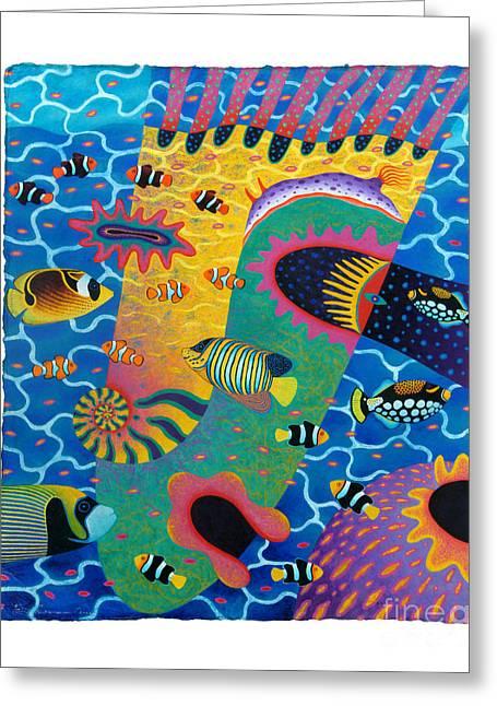 Marine Mollusc Paintings Greeting Cards - Blue Planet 12 Greeting Card by Opas Chotiphantawanon