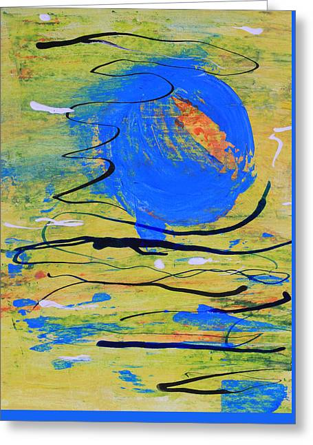 Blue Planet Abstract Greeting Card