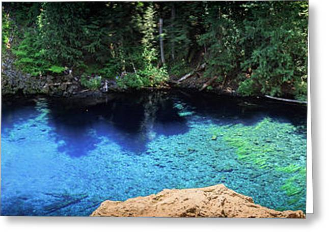 Greeting Card featuring the photograph Blue Pool by Cat Connor