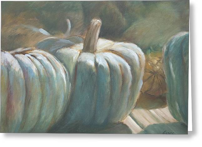 Blue Pumpkins Greeting Card