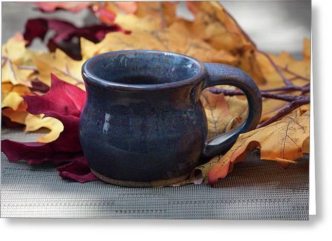 Blue Purple Mug Greeting Card