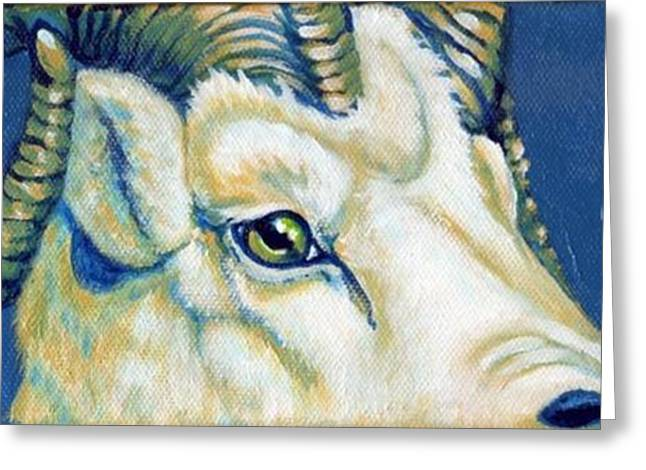Blue Ram Greeting Card by Pat Burns