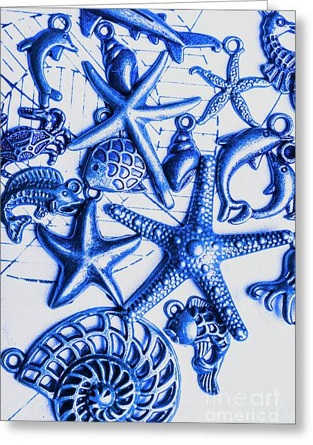 Blue Reef Abstract Greeting Card