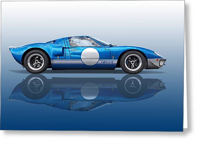 Blue Reflections - Ford Gt40 Greeting Card