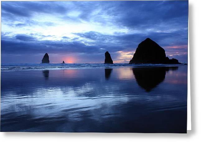Blue Reflections  Greeting Card by Kami McKeon