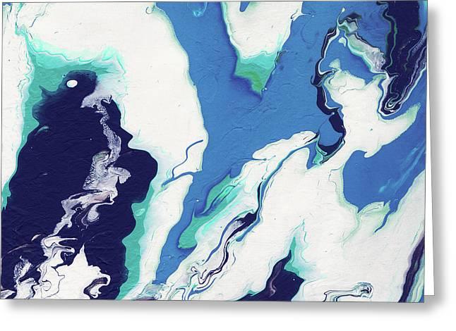 Blue Rhapsody- Art By Linda Woods Greeting Card