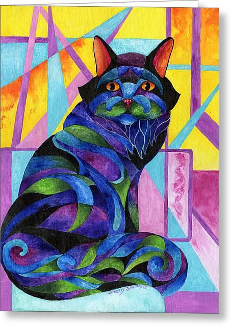 Blue Rhapsody Greeting Card by Sherry Shipley