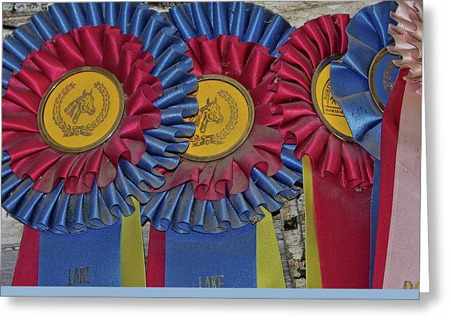 Blue Ribbons Greeting Card by JAMART Photography