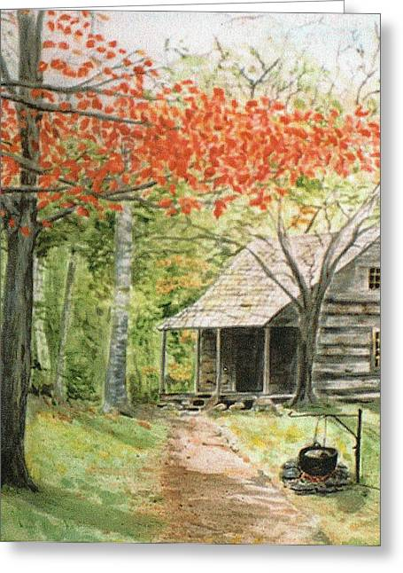Blue Ridge Cabin Greeting Card