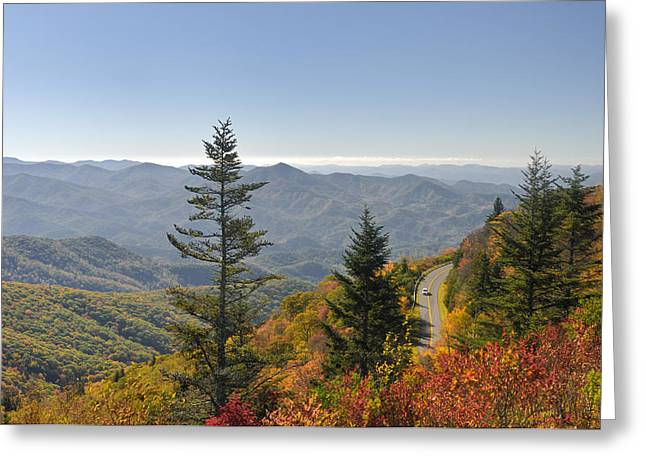 Blue Ridge Drive Greeting Card by Darrell Young