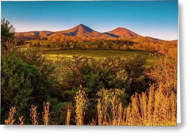 Greeting Card featuring the photograph Blue Ridge Fall by Steven Ainsworth