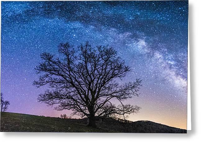 Blue Ridge Milkyway Greeting Card by Robert Loe