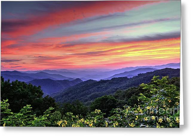 Blue Ridge Mountain Color Greeting Card