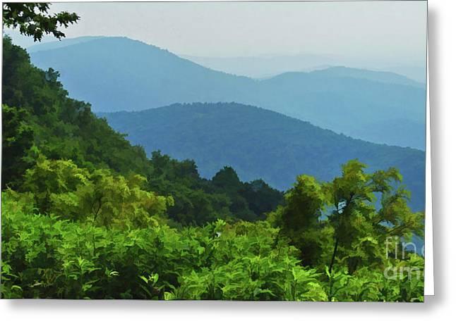 Blue Ridge Mountain Layers Greeting Card