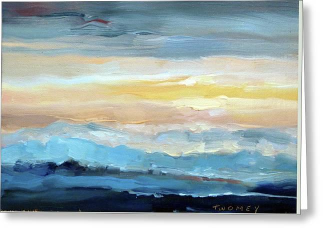 Blue Ridge Mountain Sunset 1.0 Greeting Card
