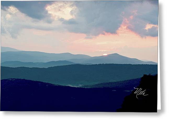 Blue Ridge Mountain Sunset Greeting Card