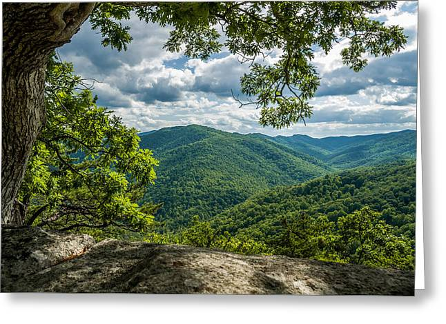 Blue Ridge Mountain View Greeting Card
