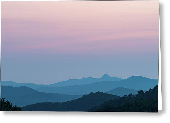 Blue Ridge Mountains After Sunset Greeting Card