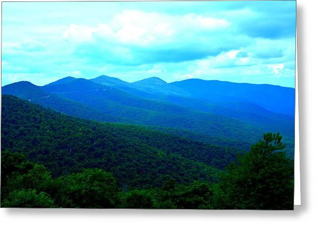 Blue Ridge Mountains Greeting Card by Lisa Wooten