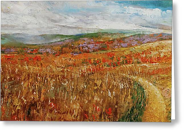 Blue Ridge Mountains Greeting Card by Michael Creese