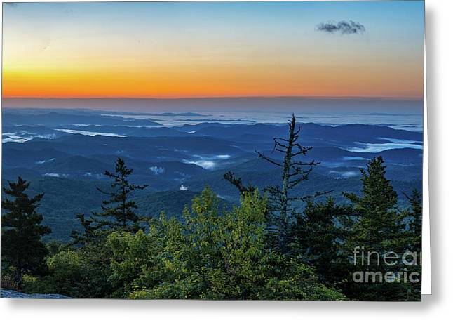 Blue Ridge Mountains Sunrise Greeting Card