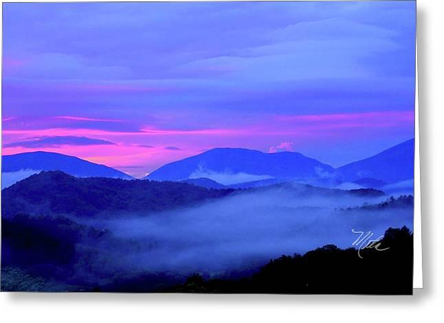Blue Ridge Mountains Sunset Greeting Card