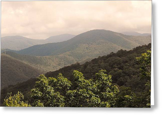 Blue Ridge Overlook Greeting Card