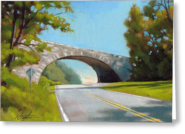Blue Ridge Overpass Greeting Card by Todd Baxter