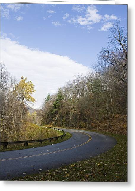 Greeting Card featuring the photograph Blue Ridge Parkway by Alan Raasch