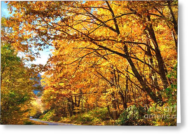 Blue Ridge Parkway Americas Favorite Drive Ap Greeting Card