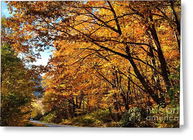 Blue Ridge Parkway Americas Favorite Drive Greeting Card by Dan Carmichael