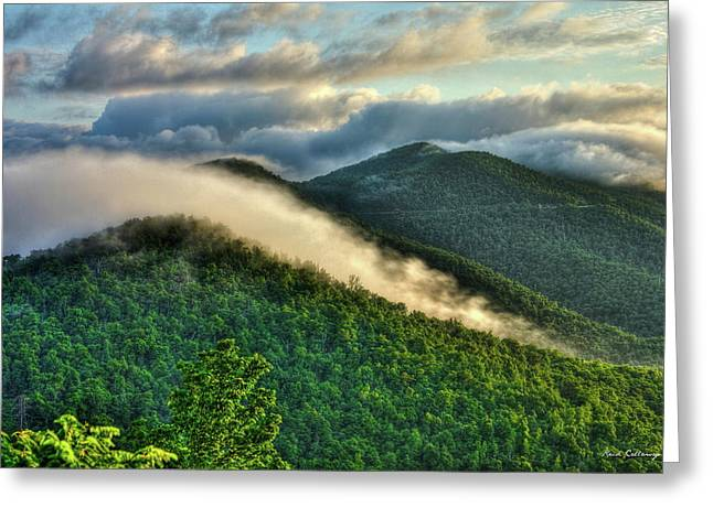Blue Ridge Parkway Cloud Waves At Sunrise Greeting Card by Reid Callaway