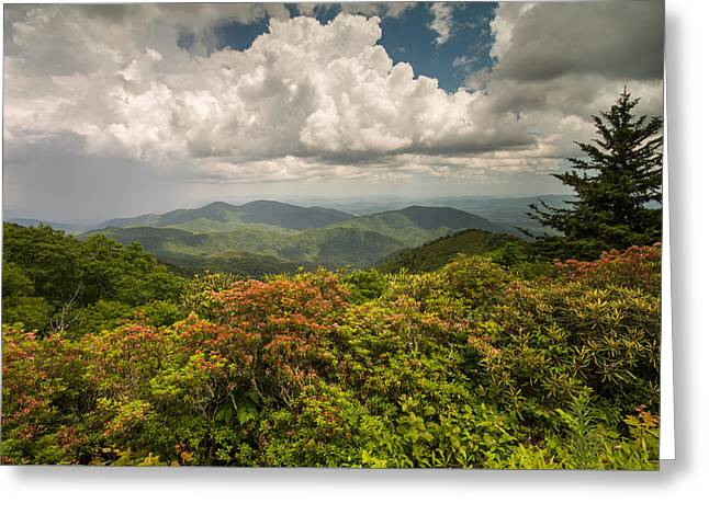 Blue Ridge Parkway Green Knob Overlook Greeting Card
