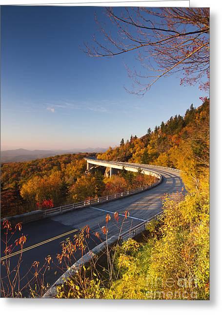 Blue Ridge Parkway Linn Cove Viaduct Fall Colors 2 Greeting Card by Dustin K Ryan