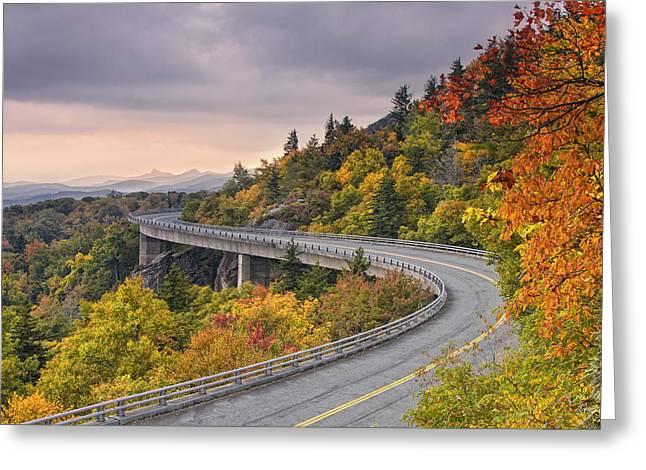 Lynn Cove Viaduct-blue Ridge Parkway  Greeting Card