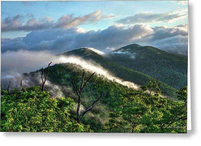 Blue Ridge Parkway Mountain Jumpers Art Greeting Card by Reid Callaway
