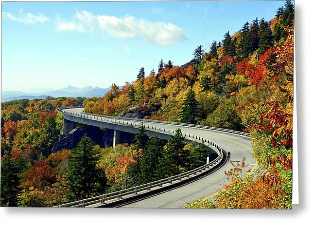 Greeting Card featuring the photograph Blue Ridge Parkway Viaduct by Meta Gatschenberger