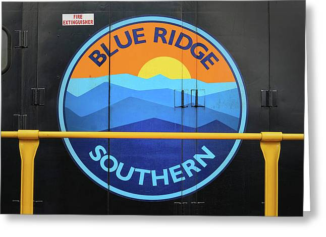 Blue Ridge Southern Emblem Greeting Card by Mike McGlothlen