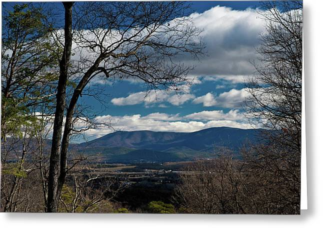 Greeting Card featuring the photograph Blue Ridge Thornton Gap by Lara Ellis