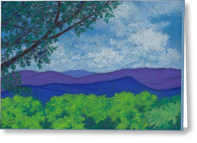 Blue Ridges 4 Greeting Card