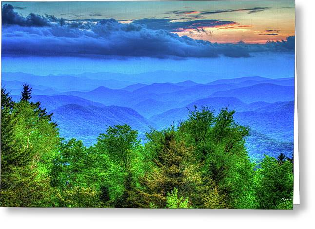 Blue Ridges Great Smoky Mountains North Carolina Greeting Card by Reid Callaway