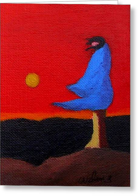 Blue Robe Greeting Card