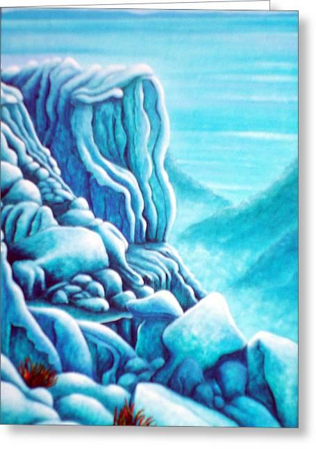 Blue Rocks Greeting Card by Barbara Stirrup