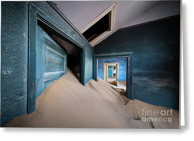 Blue Room Greeting Card by Inge Johnsson