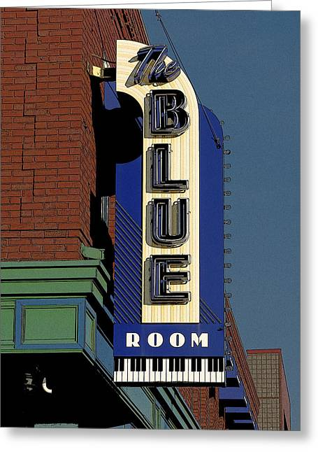 Blue Room Greeting Card