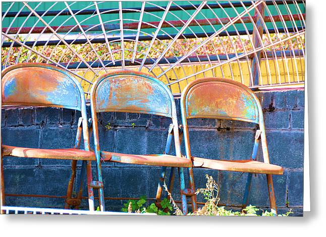 Blue Rust Greeting Card by Jan Amiss Photography